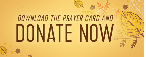 Download the free prayer card and Donate Now
