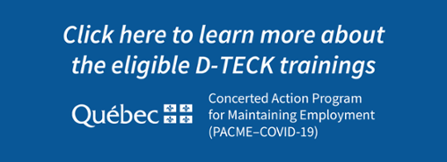 Click here to learn more about the eligible D-TECK trainings