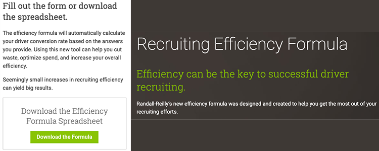 Download Randall-Reilly's Recruiting Efficiency Formula