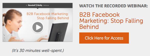 B2B Facebook Marketing Q&A CTA