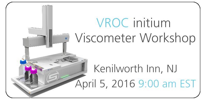 VROC initium Workshop - New Jersey April 5, 2016 at 9:00 am