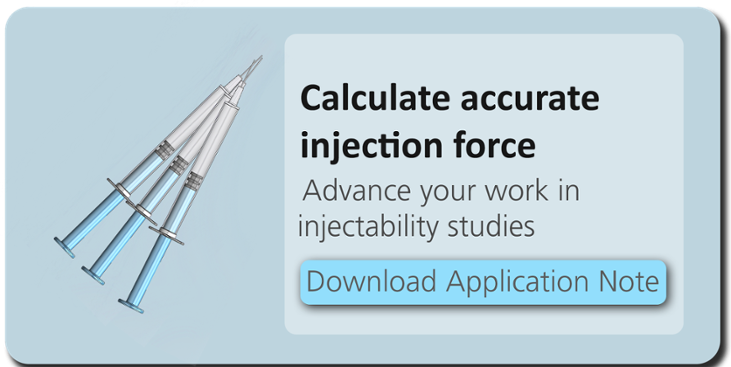 Download Injectability Application Note to Calculate Accurate Injection Force