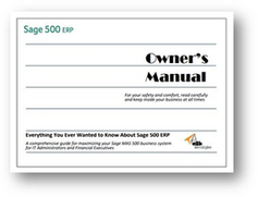 Sage 500 ERP Owners Manual