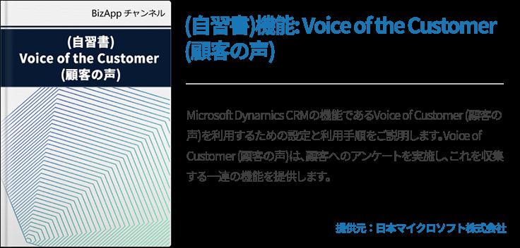 (自習書)機能: Voice of the Customer (顧客の声)