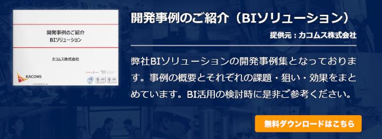 開発事例のご紹介(BIソリューション)