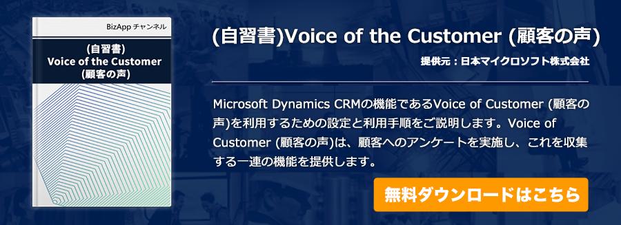 (自習書)Voice of the Customer (顧客の声)