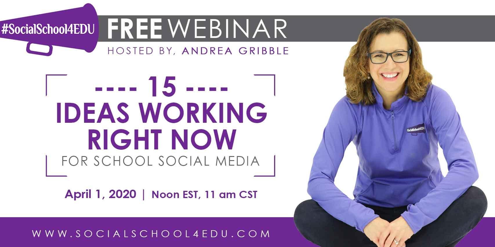 Free social media webinar for schools