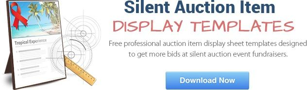 Download our free silent auction display templates.