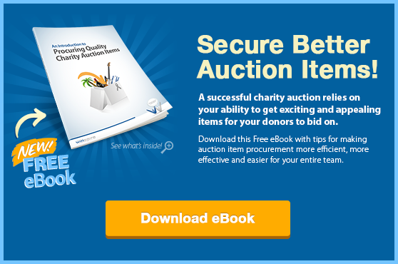 Free eBook: Intro to Procuring Quality Charity Auction Items