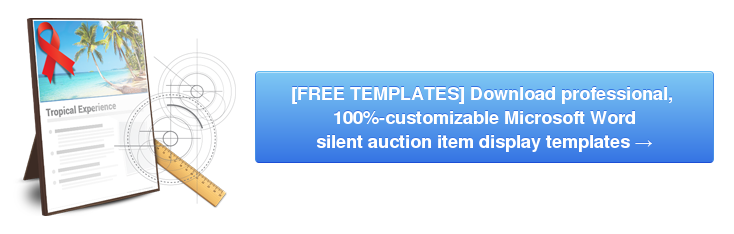 writing item descriptions for a silent auction is easier