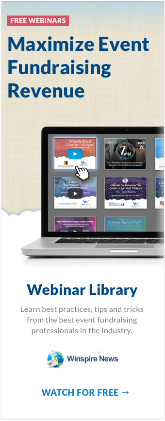 Maximize Event Fundraising Revenue by visiting our Free Webinar Library