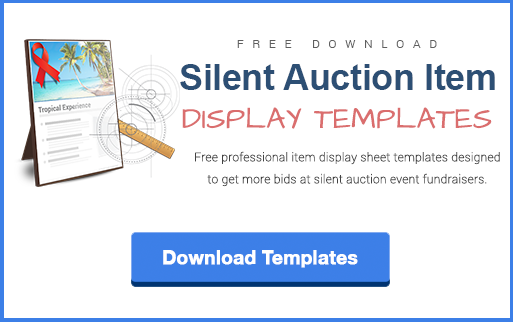 3 tips for displaying auction items to attract fierce bidding for Auction program template