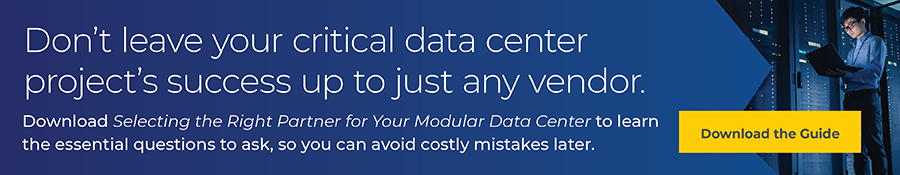 Select the right partner for your modular data center project