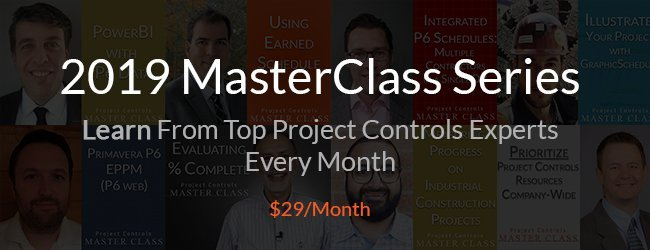 project controls masterclasses
