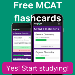 MCAT flashcards from Magoosh