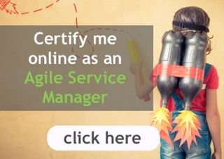 Certify me online as an Agile Service Manager