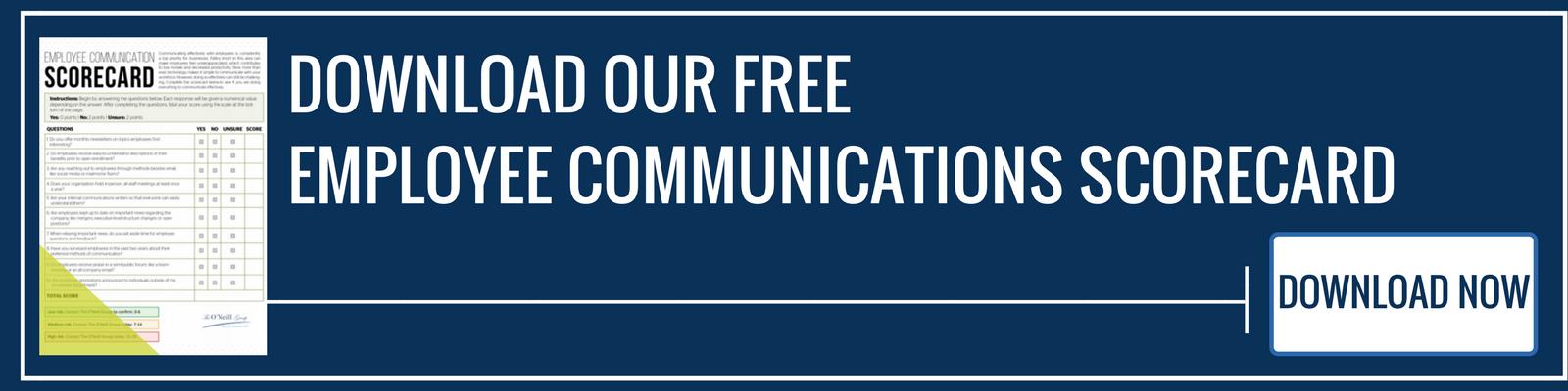 Employee Communications Scorecard