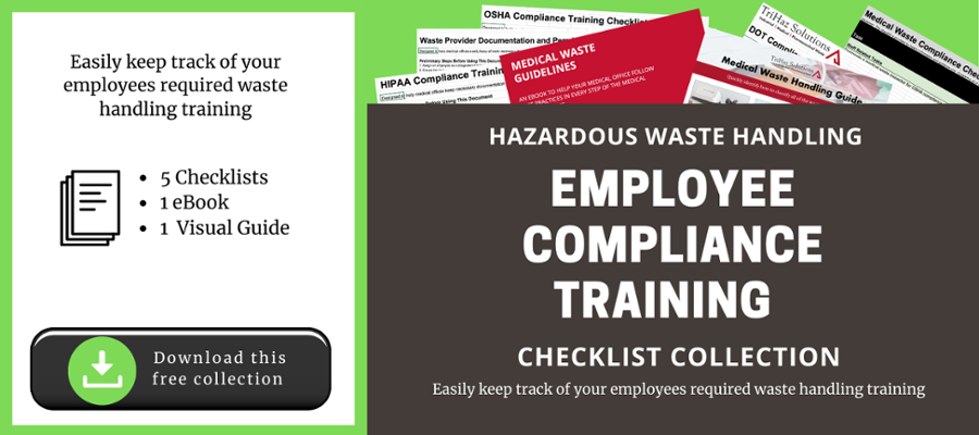 Easily keep track of employee required waste handling training, download these checklists