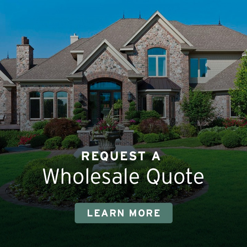 Wholesale Quote CTA with image of Home with Beautiful Landscaping