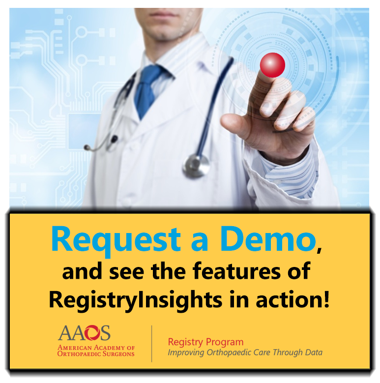 Request an AAOS RegistryInsights demo!