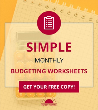 Free! Simple Monthly Budgeting Worksheets!