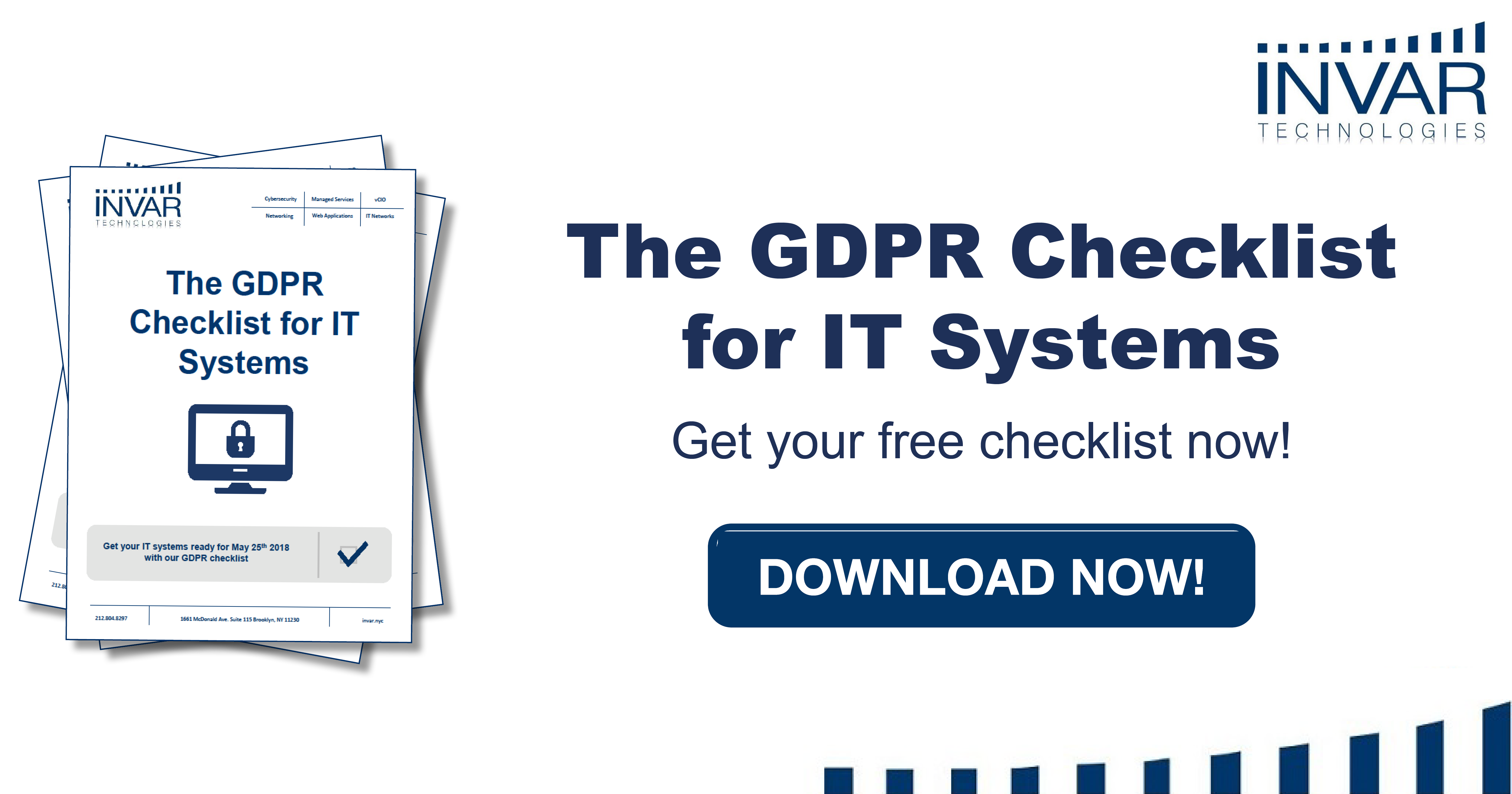 The GDPR checklist for IT systems
