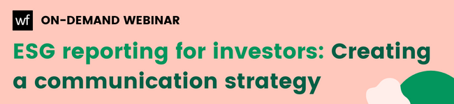 esg reporting for investors: creating a communication strategy