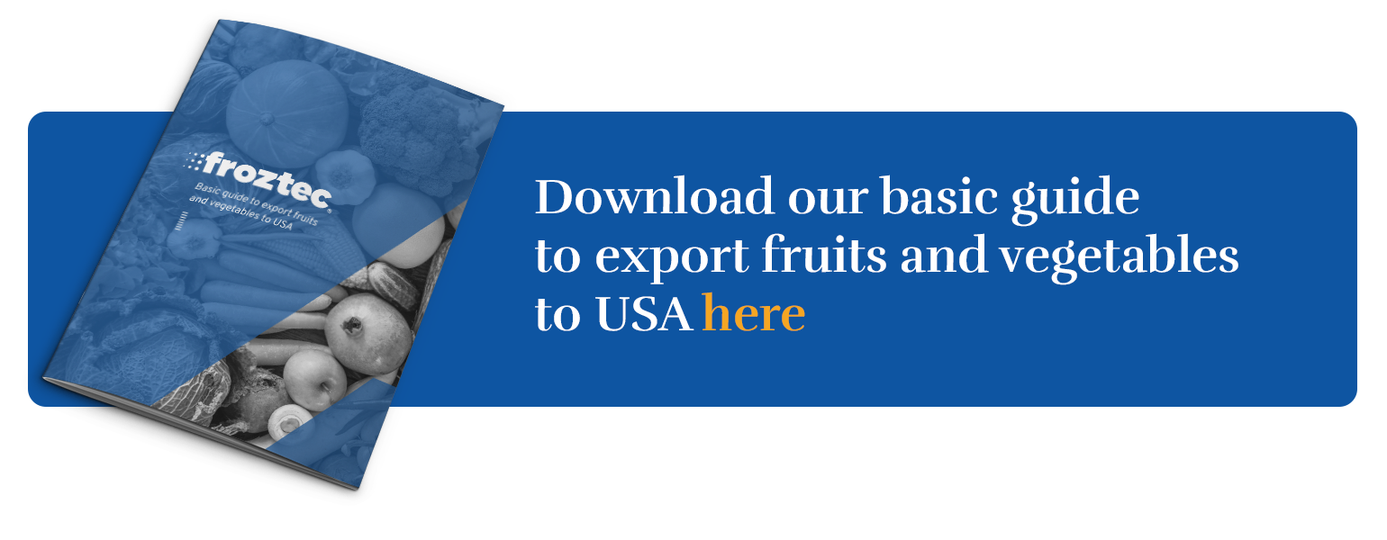 Basic guide to export fruits and vegetables