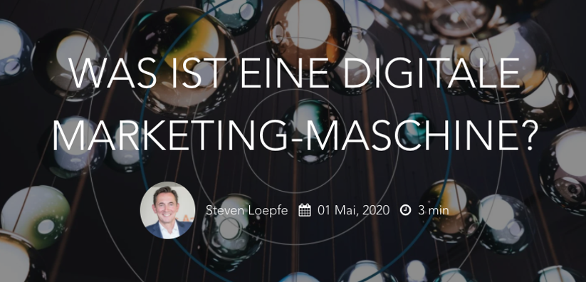 Was ist eine digitale Marketing-Maschine?