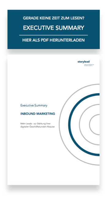 Executive Summary Inbound Marketing von Storylead herunterladen