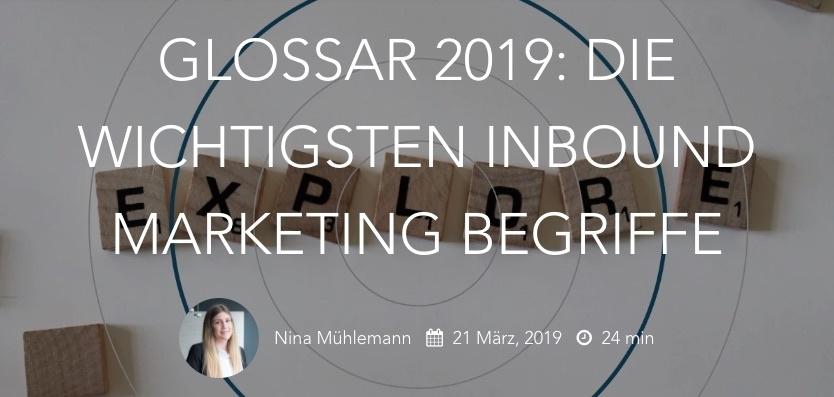 Storylead GLOSSAR 2019 - die wichtigsten Inbound Marketing Begriffe