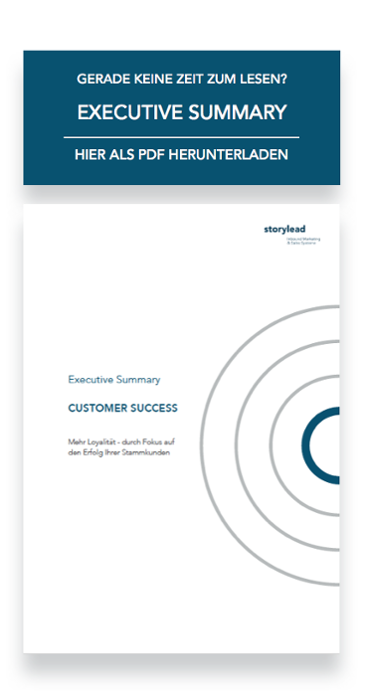 Executive Summary Customer Success von Storylead herunterladen