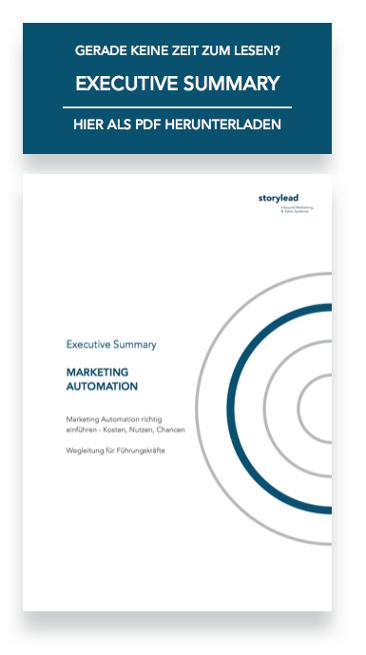 Executive Summary Marketing Automation von Storylead herunterladen