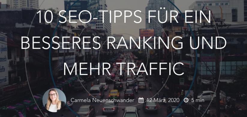 10 SEO-Tipps für ein besseres Ranking und mehr Traffic