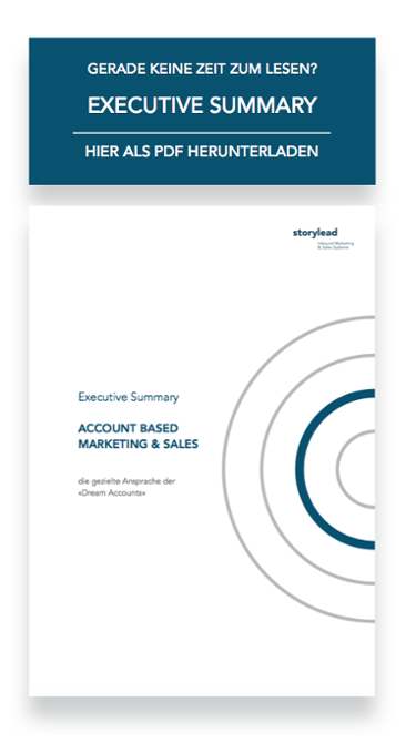 Executive Summary Account Based Marketing & Sales von Storylead herunterladen