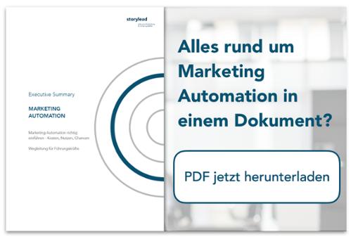 Executive Summary Marketing Automation @Storylead