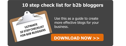 10 step checklist for b2b bloggers