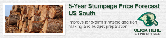 US South 5-Year Stumpage Price Forecast
