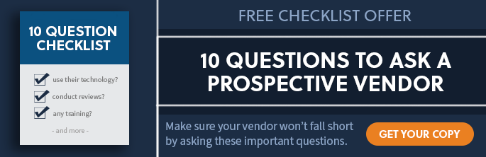Free Checklist - 10 Questions to Ask a Prospective Vendor