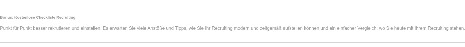 Checkliste Recruiting