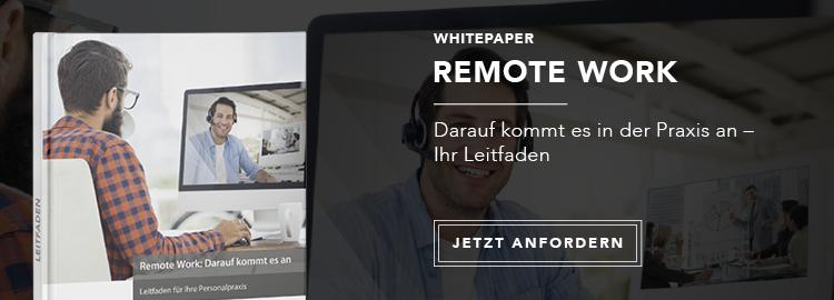 Leitfaden zu Remote Work: Jetzt kostenlos anfordern! erstellt in Zusammenarbeit mit der Personalwirtschaft