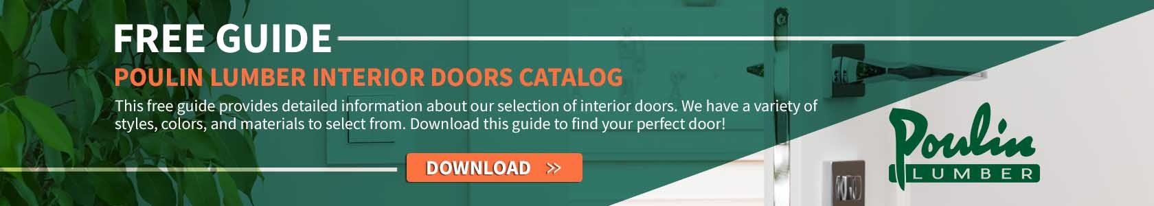 Download button for a free guide on interior doors