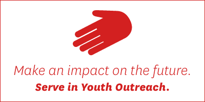 Make an impact on the future. Serve in Youth Outreach >