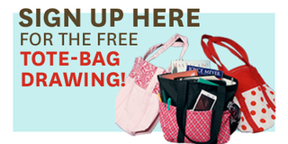 sign up for free tote bag drawing