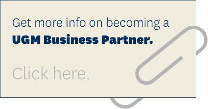 Click here to get more info on becoming a UGM Business Partner. >