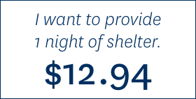Donate a Night of Shelter for $12.94