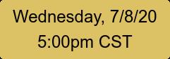 Wednesday, 11/13/19 12 pm CST
