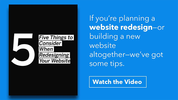5 Things to Consider When Redesigning Your Website