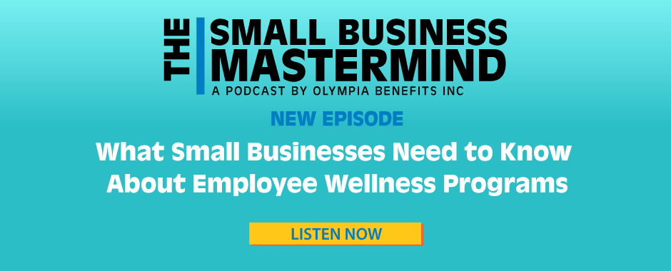 banner advertising podcast episode about employee wellness programs