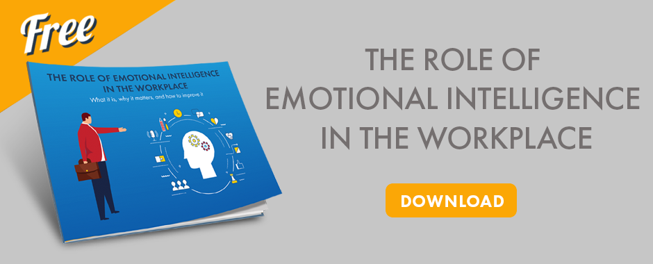 eBook image that says The Role of Emotional Intelligence in the Workplace and download button